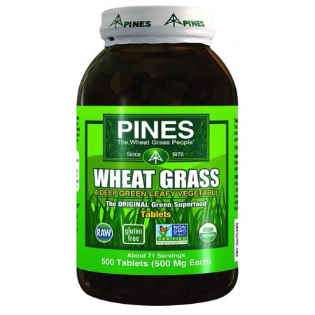 Pines International Wheat Grass - 500 Mg - 500 Tablets (Pines Wheat Grass Powder)