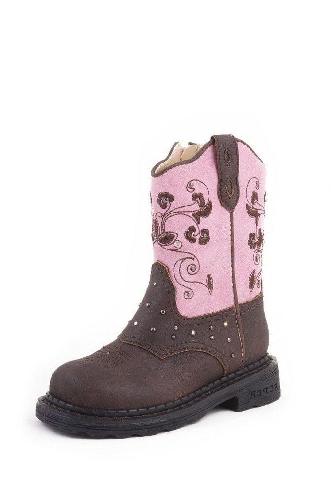 Roper Western Boots Girls Infants Lights Kid Brown 09-017-1202-0022 BR