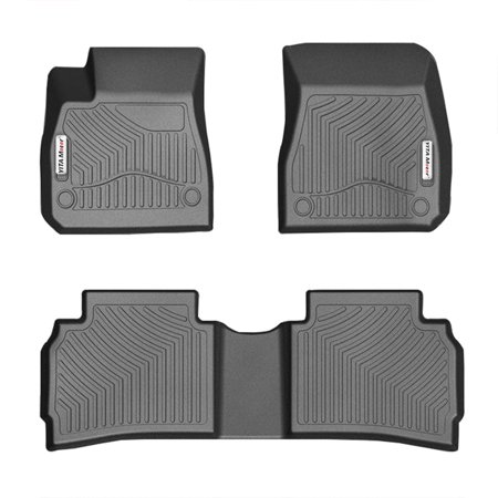 For 2016-2018 Chevrolet Malibu All Weather Floor Mats Liner 1st 2nd Row - Black