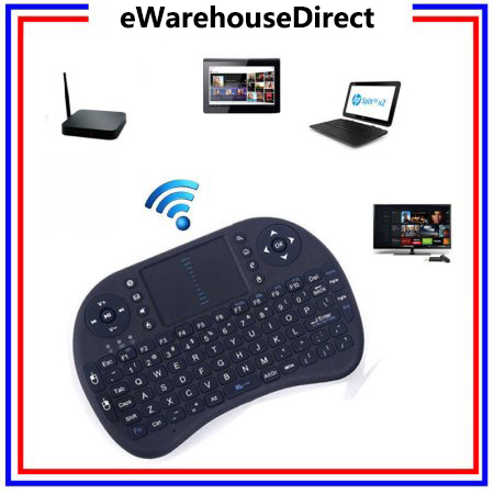 eWarehouseDirect Mini i8 Wireless 2.4G Keyboard with Touchpad Remote Combo for Android TV Box PC