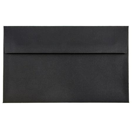 JAM Paper A9 Invitation Envelopes, 5 3/4 x 8 3/4, Black Linen, 250/pack