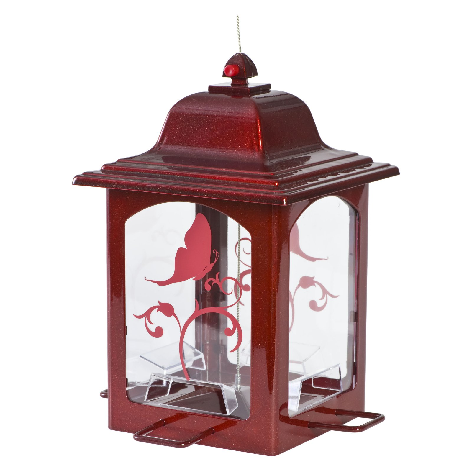 Perky-Pet Red Sparkle Lantern Wild Birdfeeder by Perky-Pet