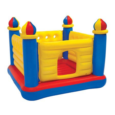Inflatable Castle - Intex Inflatable Colorful Jump-O-Lene Kids Castle Bouncer for Ages 3-6 | 48259EP