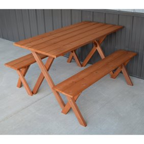 Admirable Best Redwood Backless Picnic Table Bench Machost Co Dining Chair Design Ideas Machostcouk