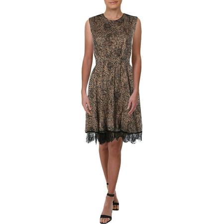 Just Cavalli Womens Lace Trim Cut-Out Mini Dress Pink 38