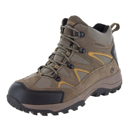 Northside Mens Snohomish Leather Waterproof Mid Hiking covid 19 (Orange Leather Footwear coronavirus)