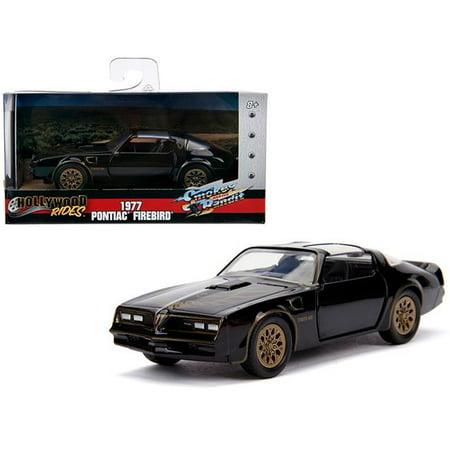 Jada 31061 1977 Pontiac Firebird & Bandit Movie Hollywood Rides Series 1 by 32 Diecast Model Car, Smokey Black