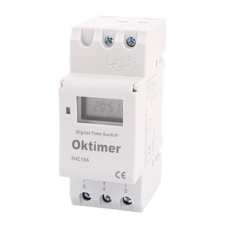 THC15A 110V AC LCD Digital Electronic Programmable Timer Time Relay Switch - image 4 de 4