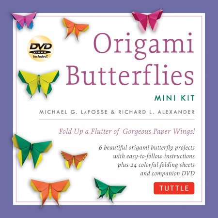 Origami Butterflies Mini Kit: Fold Up a Flutter of Gorgeous Paper Wings!: Kit with Origami Book, 6 Fun Projects, 32 Origami Papers and Instructional DVD (Other)