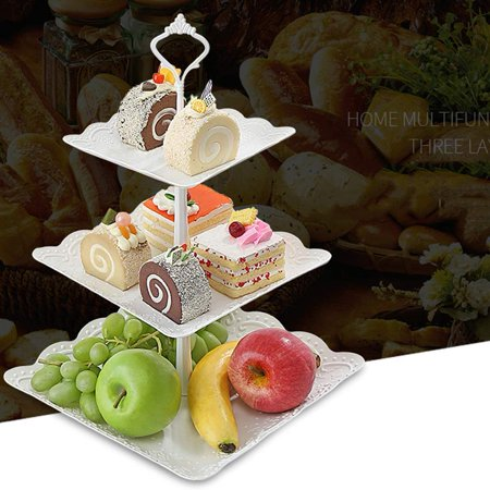 3 Tier Cupcake Stand Cake Holder Dessert Stand Tray Birthday Party Wedding Supplies - Cupcake Tray