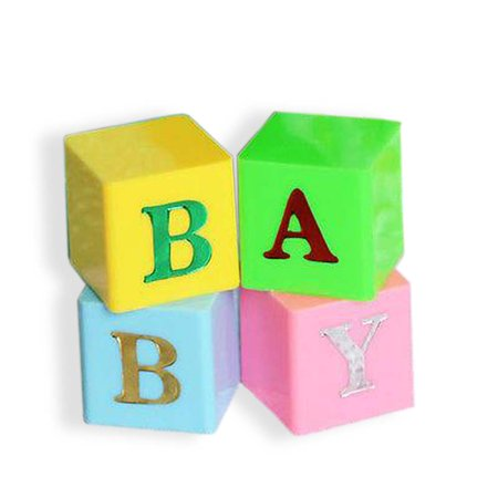 2 Sets Baby Blocks Multi Color Blue Pink Letter Blocks Baby Shower Centerpiece 8 total](Baby Shower Blocks)