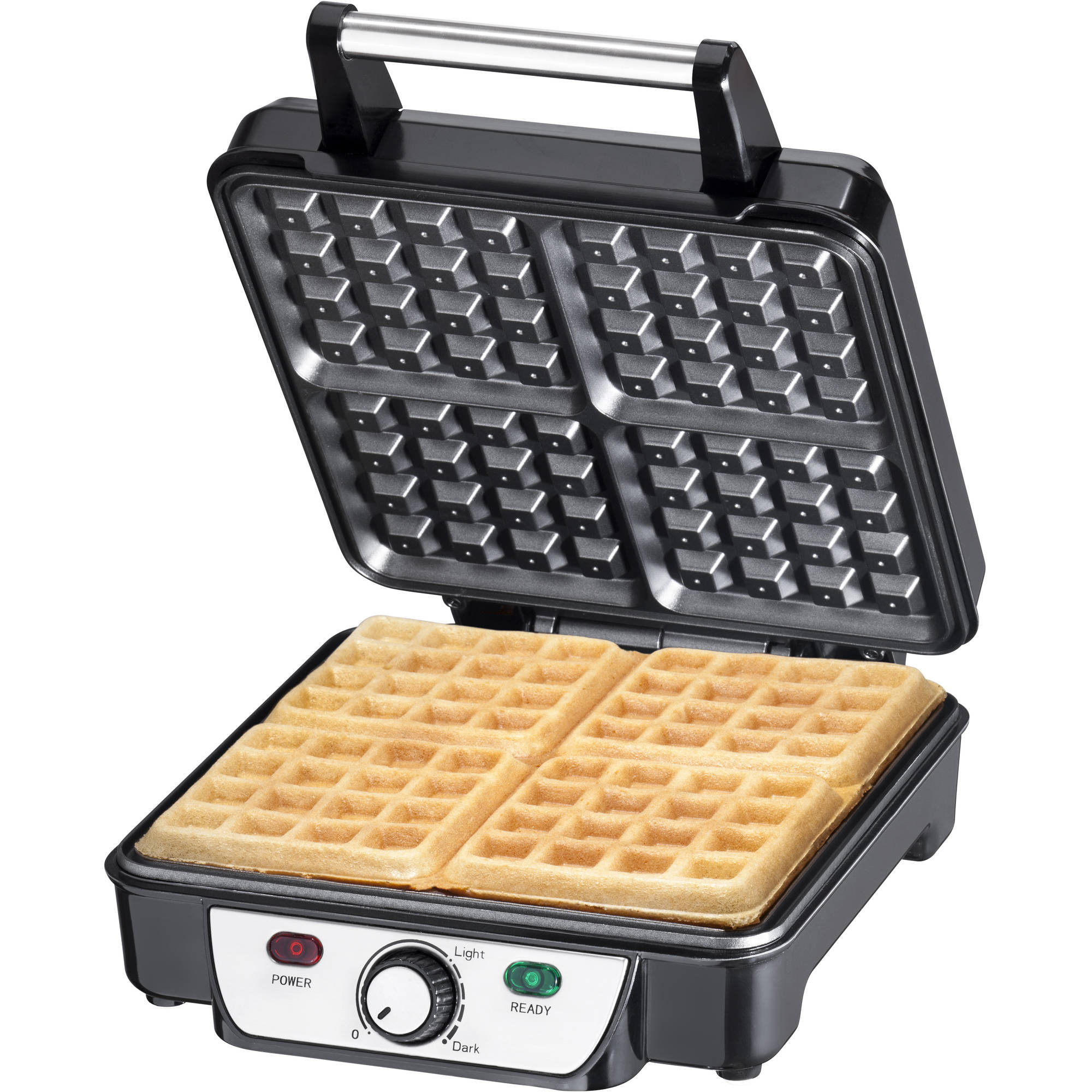 Chefman 4-Slice Waffle Maker with Browning Control, Non Stick Surface, Stainless Steel