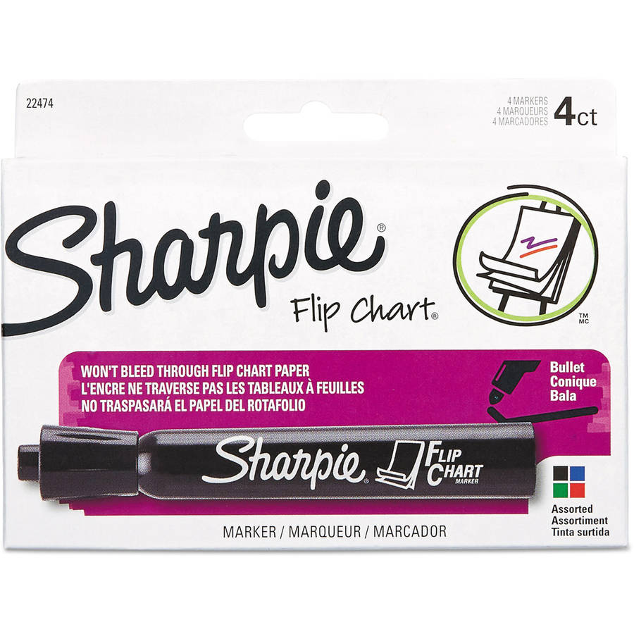 Sharpie Flip Chart Markers, Bullet Tip, Assorted Colors, Available in Multiple pack sizes