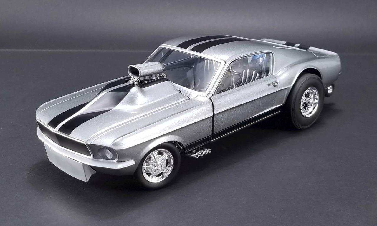 Gone in 6 seconds 1967 ford mustang gasser w airplow front spoiler ltd ed 480 pcs 1 18 diecast car acme exclusive by gmp walmart com