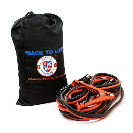 Jumper Cables 4 Gauge, Extra Long (20 feet), High Capacity (400 AMP), Tough Insulation, with Heavy Duty Alligator Clamps - High Performance Battery Booster Cable With Carry Bag.