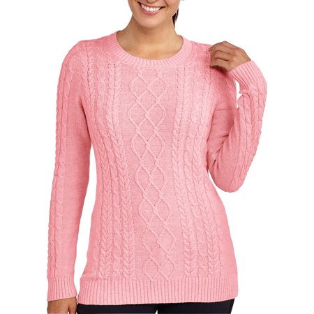 Faded Glory Womens Cable Knit Sweater - Walmart.com