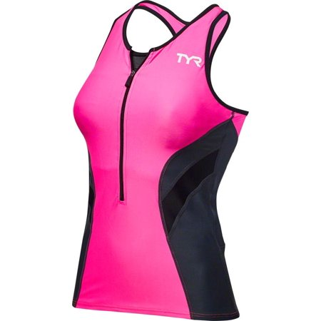 Tyr Competitor Womens Tank  Pink Gray Md