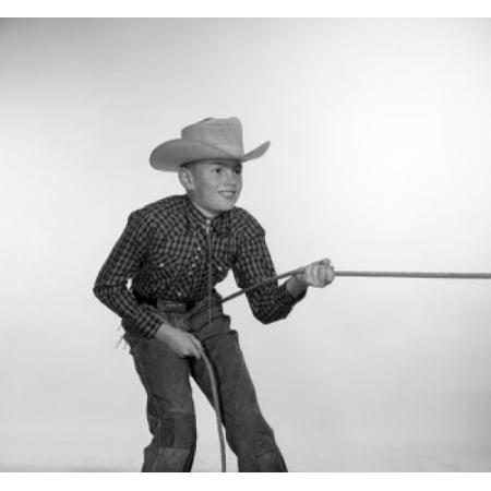 Boy in cowboy costume Canvas Art - (18 x 24)