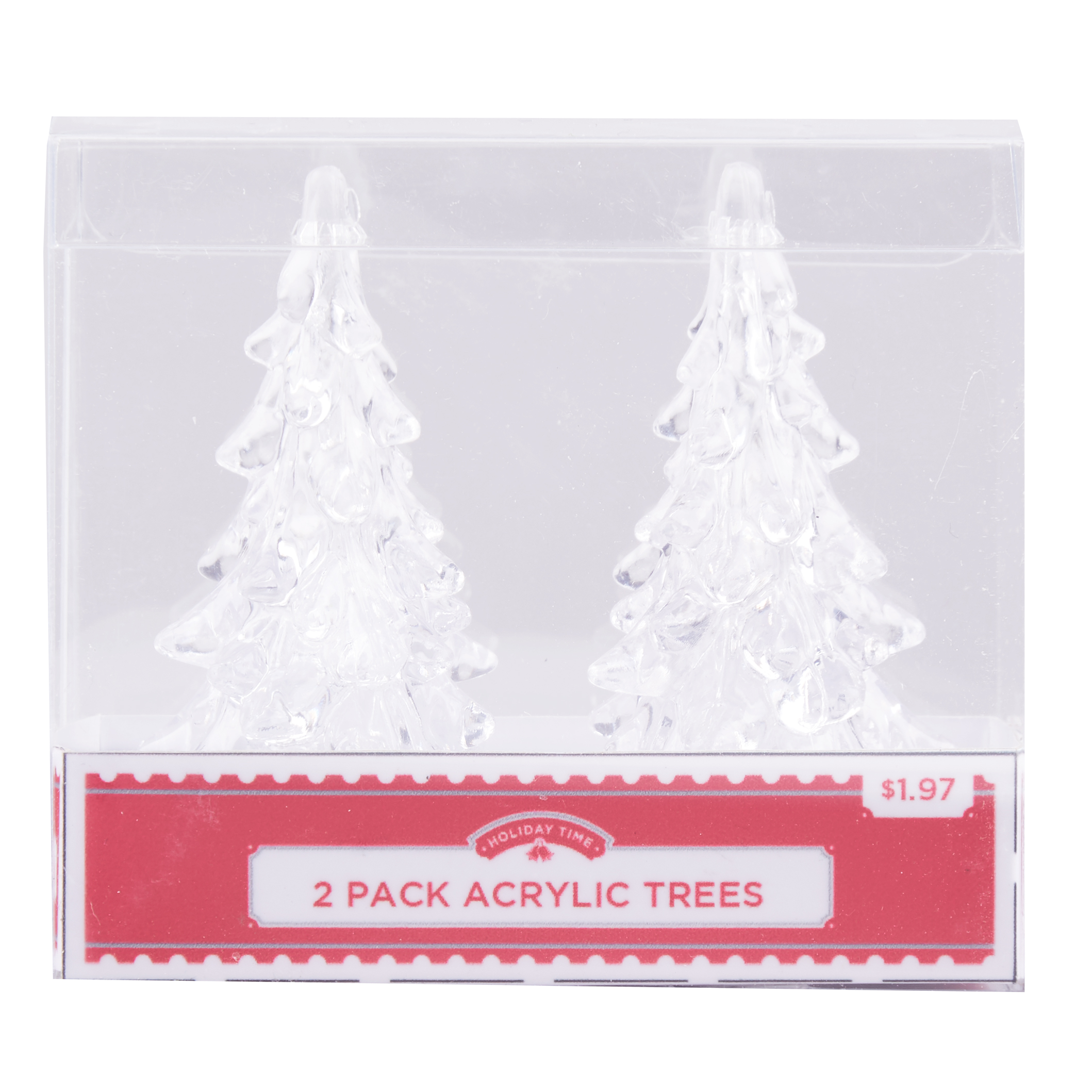 Holiday Time Acrylic Tree, 2 Pack