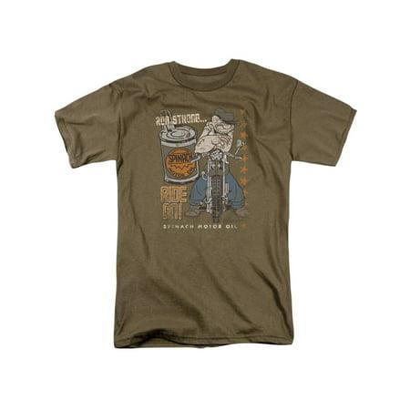 Popeye Ride On Spinach Motor Oil Classic Cartoon T-Shirt - Halloween Prop Vent Motor