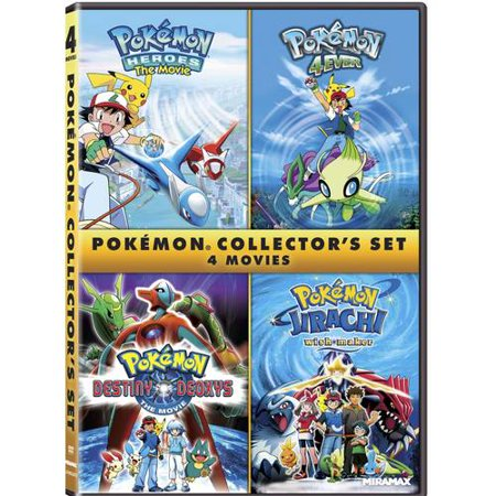 Pokemon Collector's Set: Pokemon 4Ever / Pokemon Heroes / Pokemon Destiny Deoxys / Pokemon Jirachi: Wish Maker