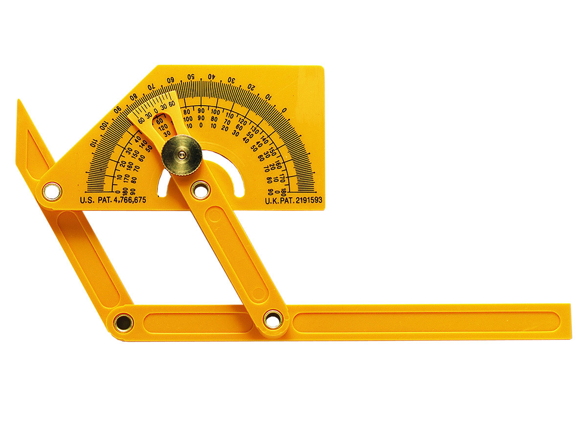 General Tools 29 Plastic Protractor and Angle Finder, Outside, Inside, Sloped Angles, 0�... by General Tools