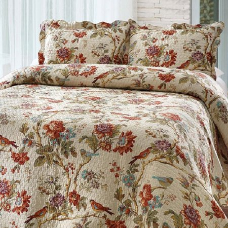Bay colony quilts by Patch Magic Finch Orchard Queen Quilt with two pillow shams  set ()