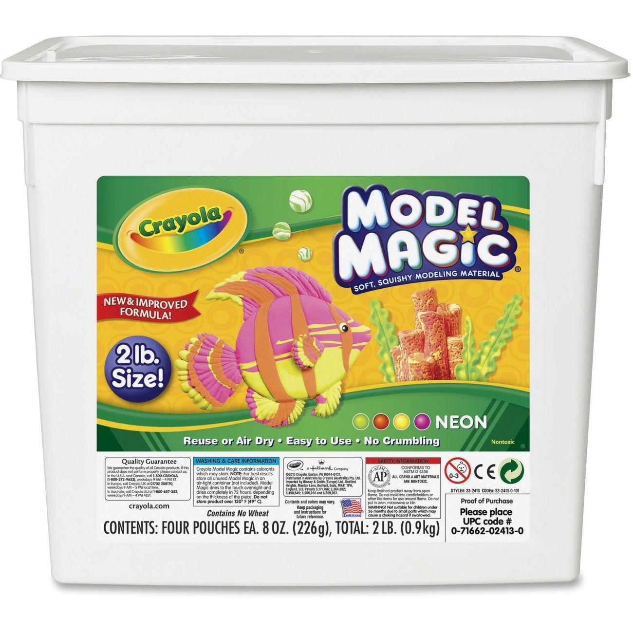 Crayola Neon Modeling Clay by Overstock