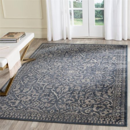 """Safavieh Vintage 4' X 5'7"""" Power Loomed Rug in Blue and Light Gray - image 2 de 3"""