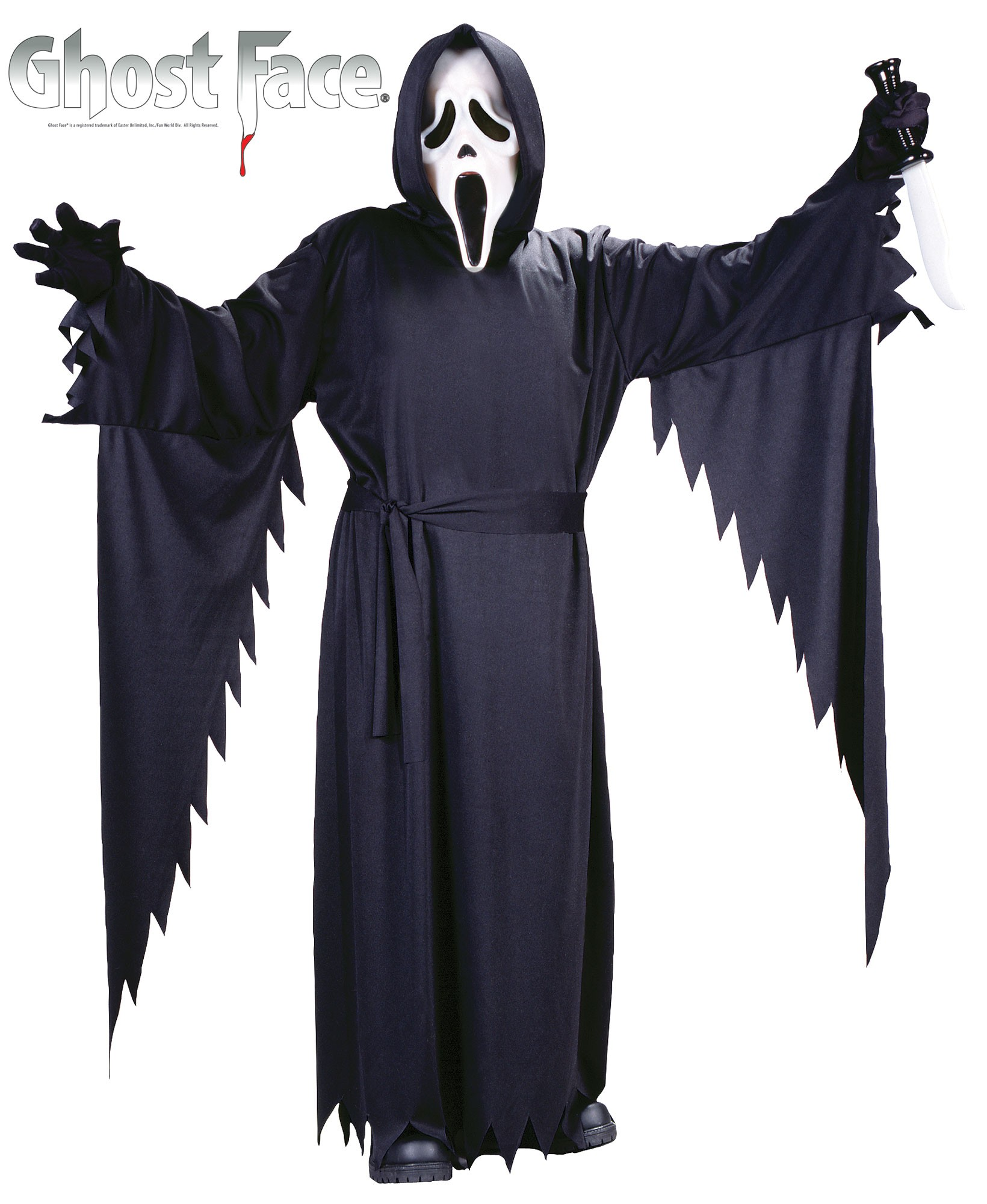 Costume for Halloween Black Skeleton Scary  Grim Reaper Ghost Scream Clothes