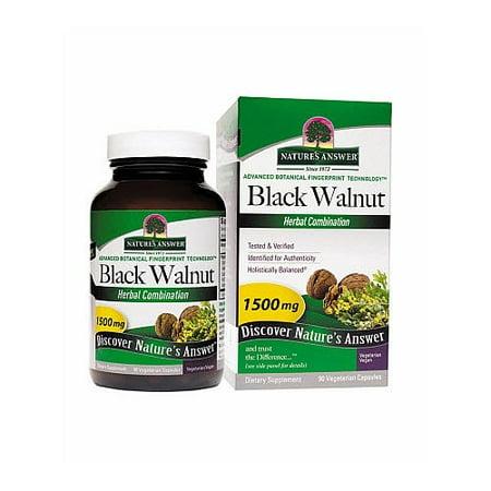 Nature's Answer Black Walnut 90 Vegetarian - Natures Answer Black Walnut Hulls