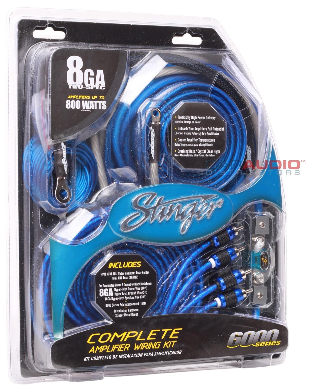 Stinger SK6681 8 Gauge 6000 Series Complete Amplifier Installation ...