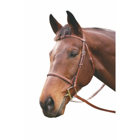 Henri de Rivel HDR Adv Plain Raised Snaffle Leather Bridle with Laced Reins