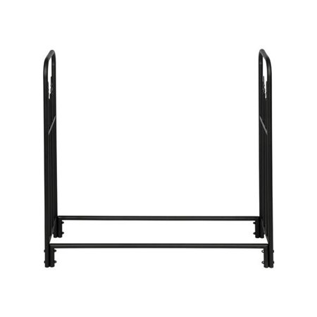 Artisasset Black Sand Pattern Single Layer 4 Feet Long 44 Inches High With Arrow Style Indoor And Outdoor Iron Fireplace Firewood Stand