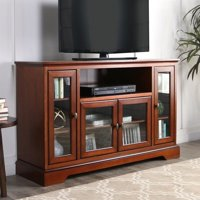 """Kingfisher Lane 52"""" Highboy Style Wood TV Stand in Rustic Brown"""