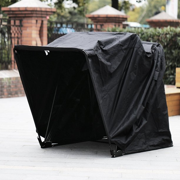 "BestEquip Motorcycle Shelter Shed Strong Frame Motorbike Garage Waterproof 106.5""X41.5""X61"" Motorbike Cover Tent Scooter Shelter"