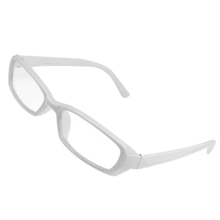 3102ead47b4 Unique Bargains White Full Rim Eyeglasses Frame Plain Plano Glasses ...