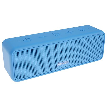 9 250 Watt Speaker - Anker SoundCore 2 12-Watt Portable Rechargeable Bluetooth Wireless Speaker with Superior Stereo Sound, Exclusive BassUp, IPX5 Water-Resistant and 24-Hour Playtime, Blue (New Open Box)