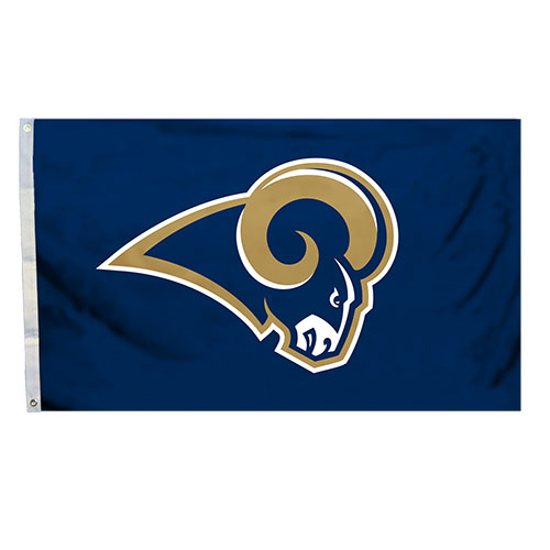 Los Angeles Rams Team Logo NFL Deluxe 3x5 Indoor/Outdoor Flag