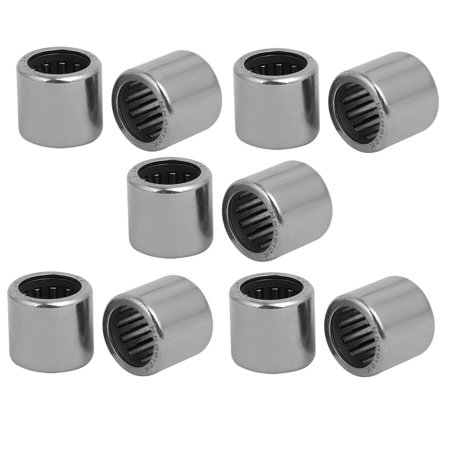 HK0912 13mmx9mmx12mm Drawn Cup Open End Needle Roller Bearing Silver Tone 10pcs Silver Tone Open End