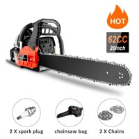 "20"" Bar 58/62CC Powerful Gas Chainsaw 2 Stroke Handed Petrol Chain Saw Woodcutting Saw with Tool Kit"