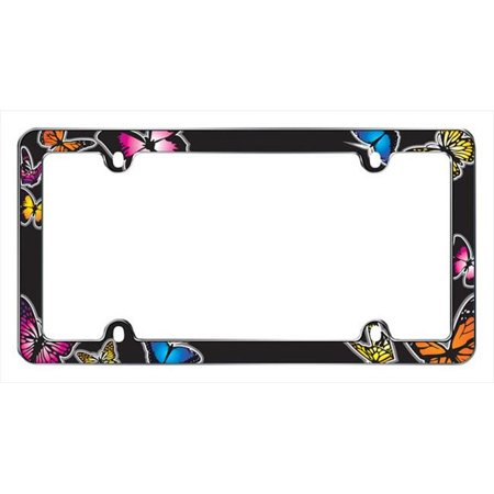 Butterfly License Plate Frame, Chrome - image 1 de 1