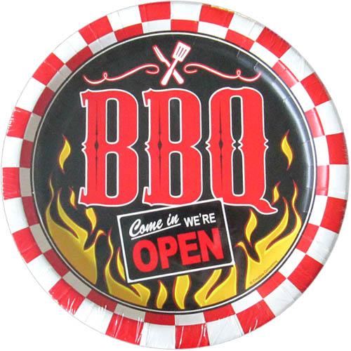 Barbecue 'Weekend BBQ' Large Paper Plates (8ct)