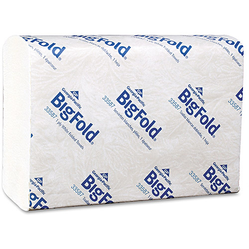 Georgia Pacific Bigfold C-Fold Replacement Paper Towels, 10 Packs of 220 sheets, 2200 Total