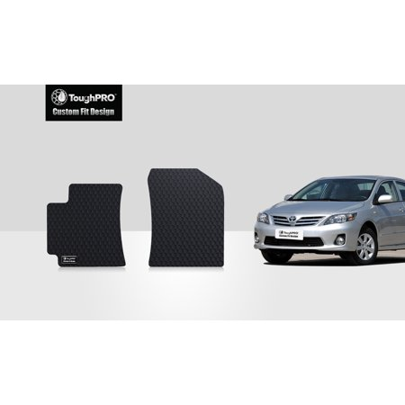ToughPRO - TOYOTA Corolla Two Front Mats - All Weather - Heavy Duty - Black Rubber - 2011 ()