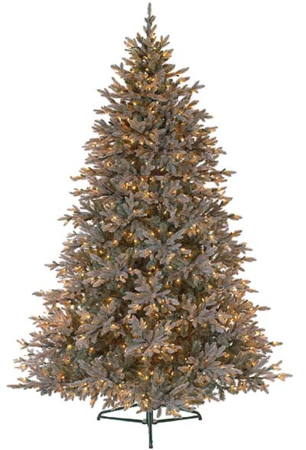 7.5' Baby Pine Blue Pre-Lit PE Artificial Christmas Tree - Clear Lights