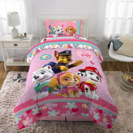 Paw Patrol Girl Best Pup Pals Bed in Bag Bedding Set ()