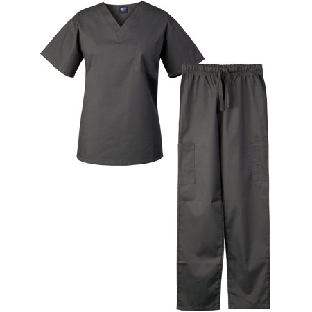 c7f429f4392 Medgear Scrubs Set Unisex Top and Cargo Pants, Medical Uniform ...