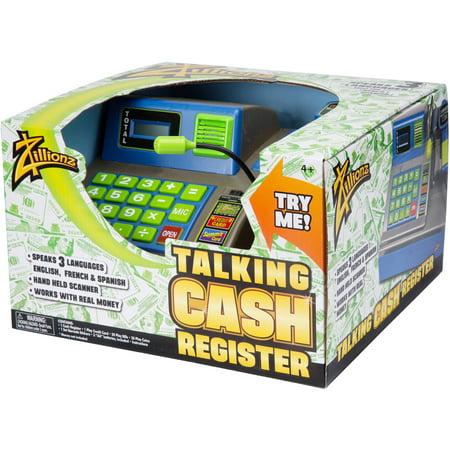 Zillionz Talking Cash Register, Blue
