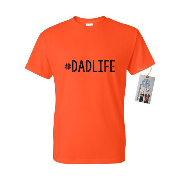 #DadLife Dad Gifts Fathers Day Mens Short Sleeve T-Shirt